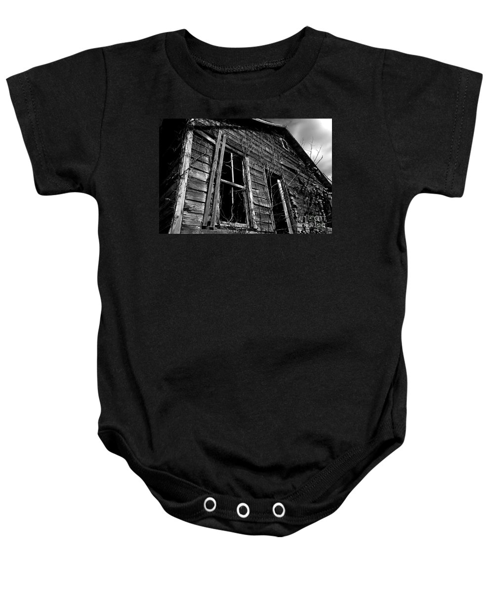 old House Baby Onesie featuring the photograph Old House by Amanda Barcon