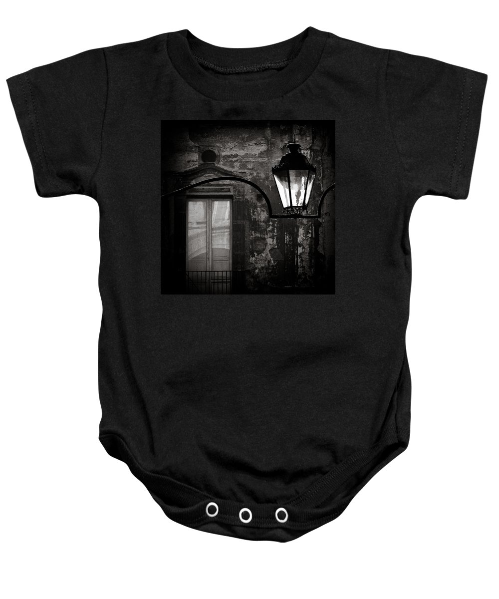 Naples Baby Onesie featuring the photograph Old Lamp by Dave Bowman