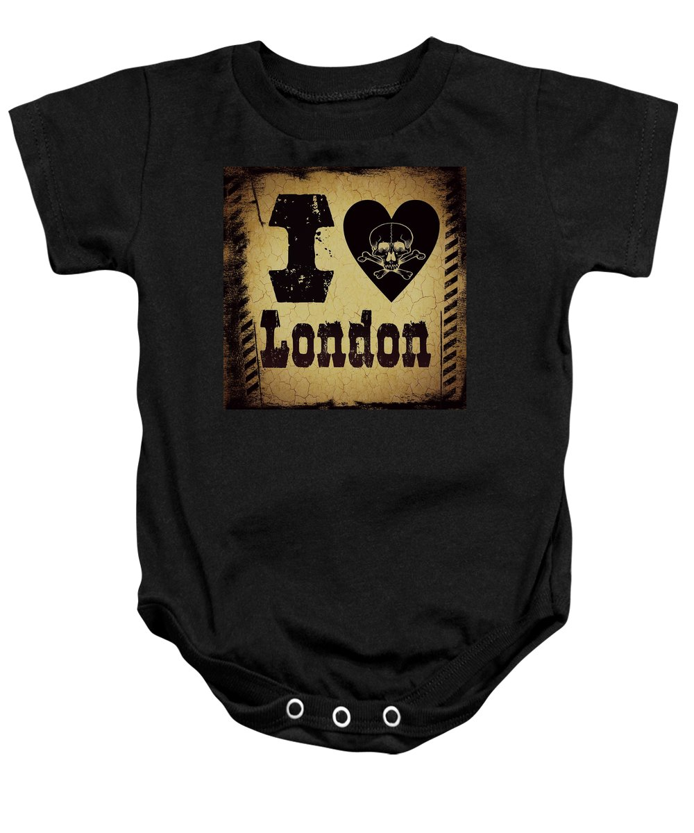 London Baby Onesie featuring the digital art old London by Randolph Ping