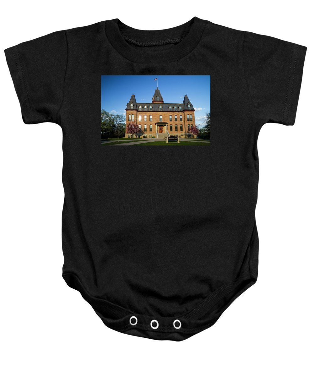Minnesota Baby Onesie featuring the photograph Old Main Spring Evening by Joe Miller