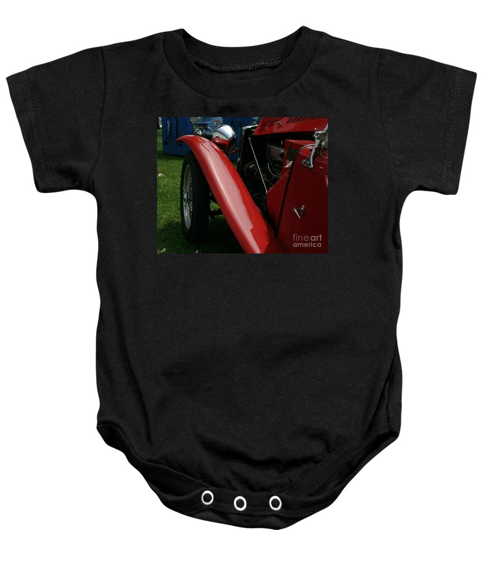 Mg Baby Onesie featuring the photograph Old Mg by Dawn Downour
