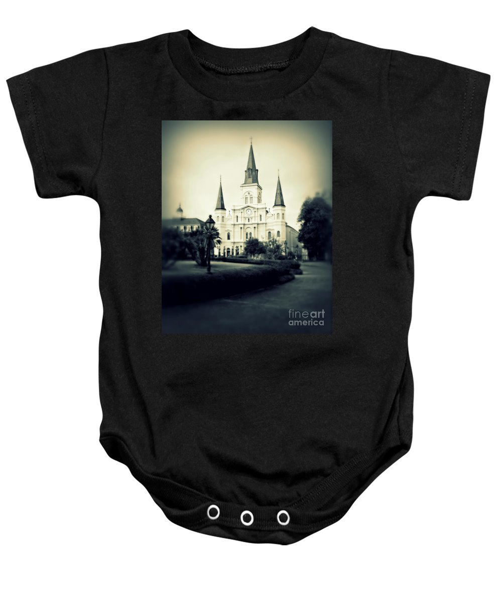 Jackson Square Baby Onesie featuring the photograph Old New Orleans by Perry Webster