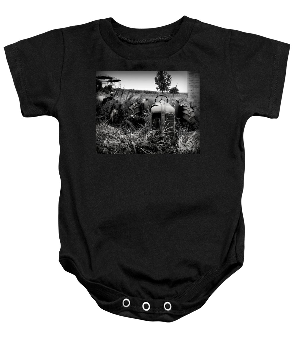 Tractor Baby Onesie featuring the photograph Old Oliver 2 by Perry Webster