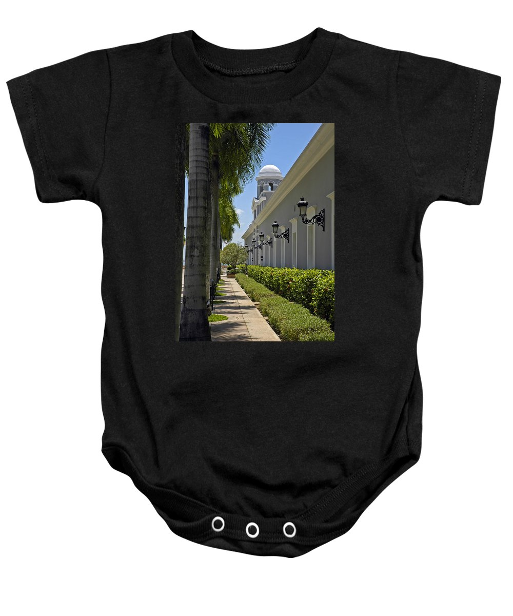 Travel Baby Onesie featuring the photograph Old San Juan Puerto Rico by Tito Santiago