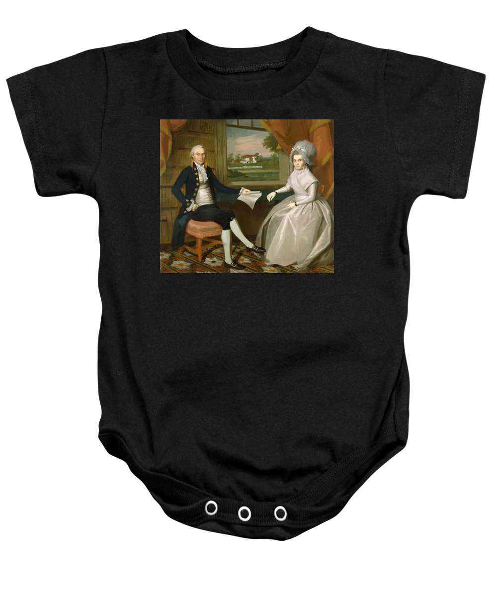 Oliver Baby Onesie featuring the painting Oliver And Abigail Wolcott Ellsworth 1801 by Earl Ralph