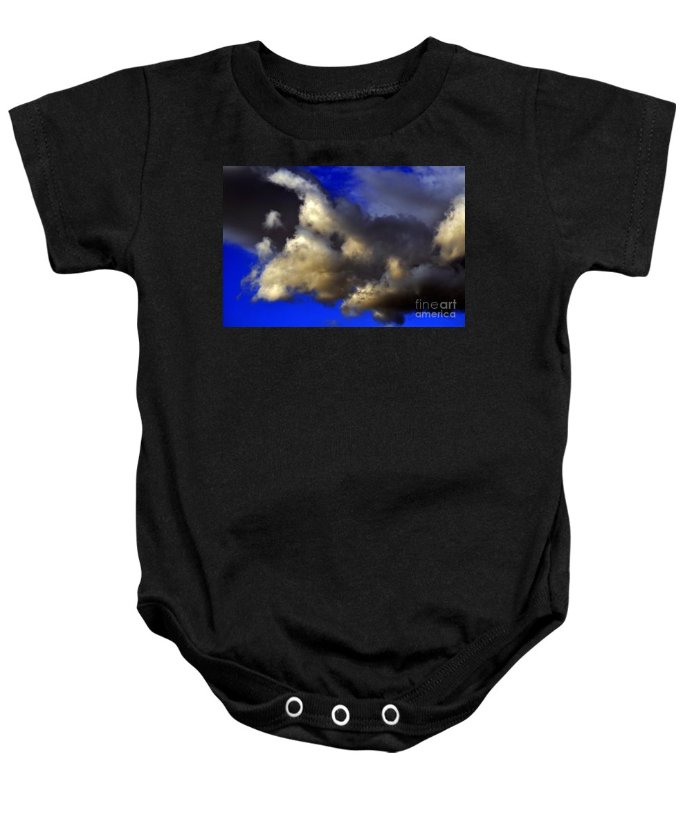 Clay Baby Onesie featuring the photograph Ominous by Clayton Bruster