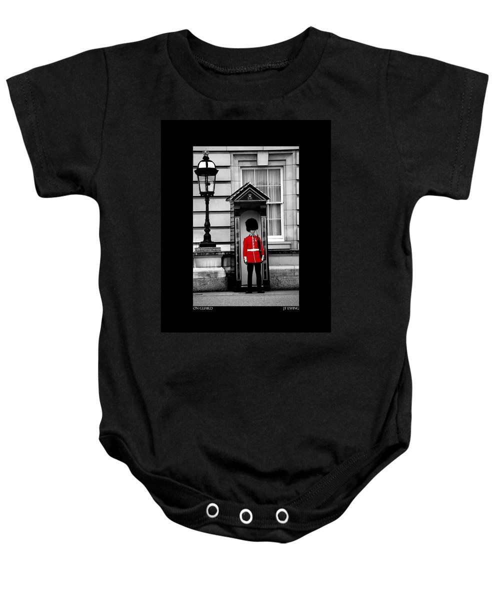 London Baby Onesie featuring the photograph On Guard by J Todd