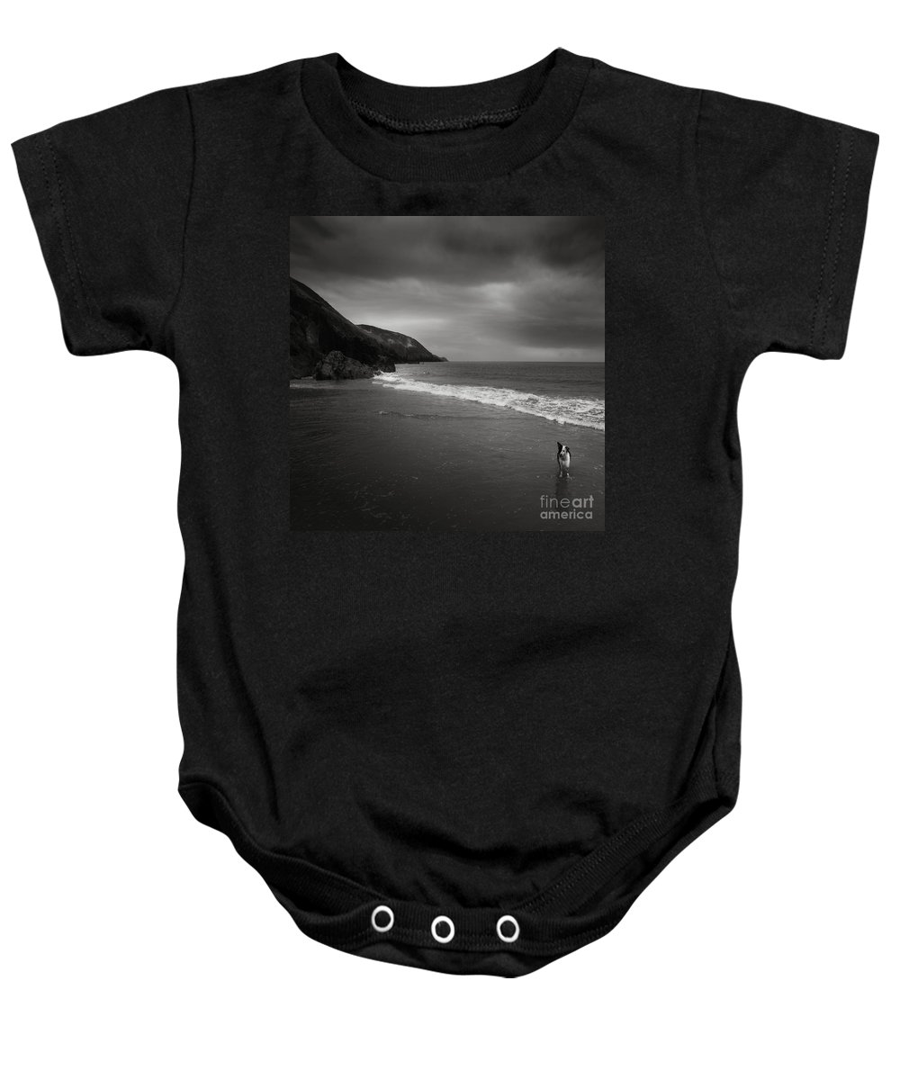 Beach Baby Onesie featuring the photograph On The Beach by Angel Ciesniarska