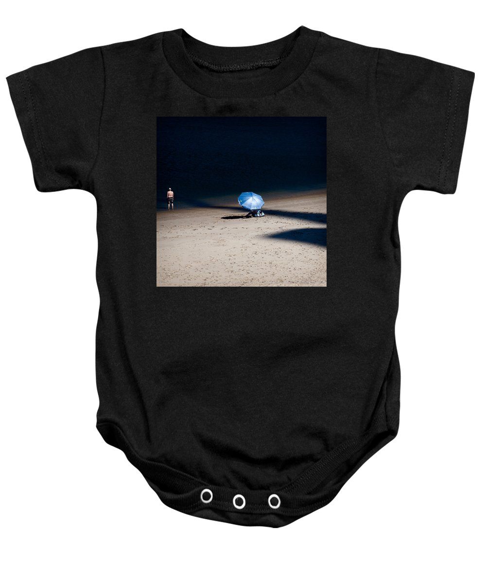 Beach Baby Onesie featuring the photograph On The Beach by Dave Bowman