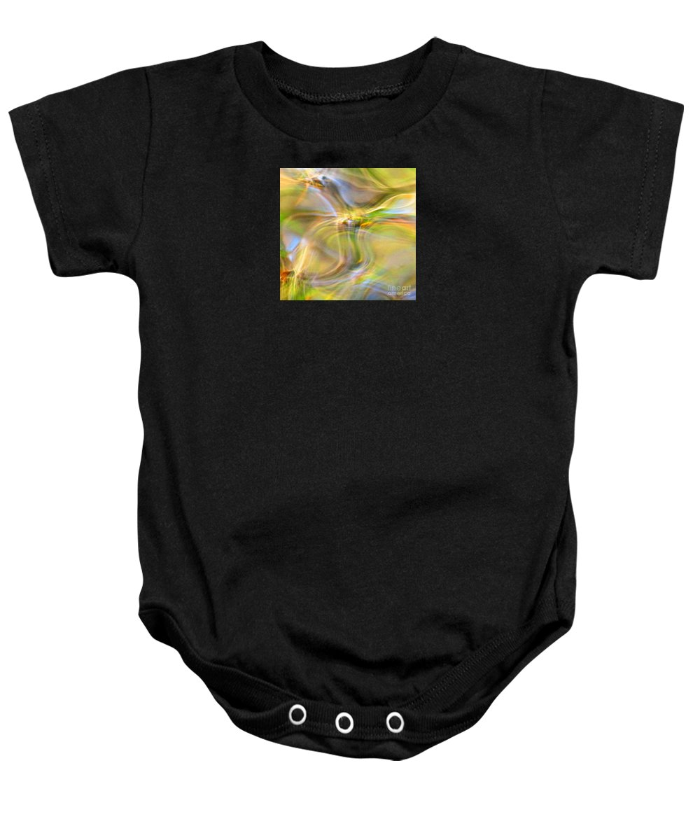 Abstract Baby Onesie featuring the photograph Free Spirit by Sybil Staples