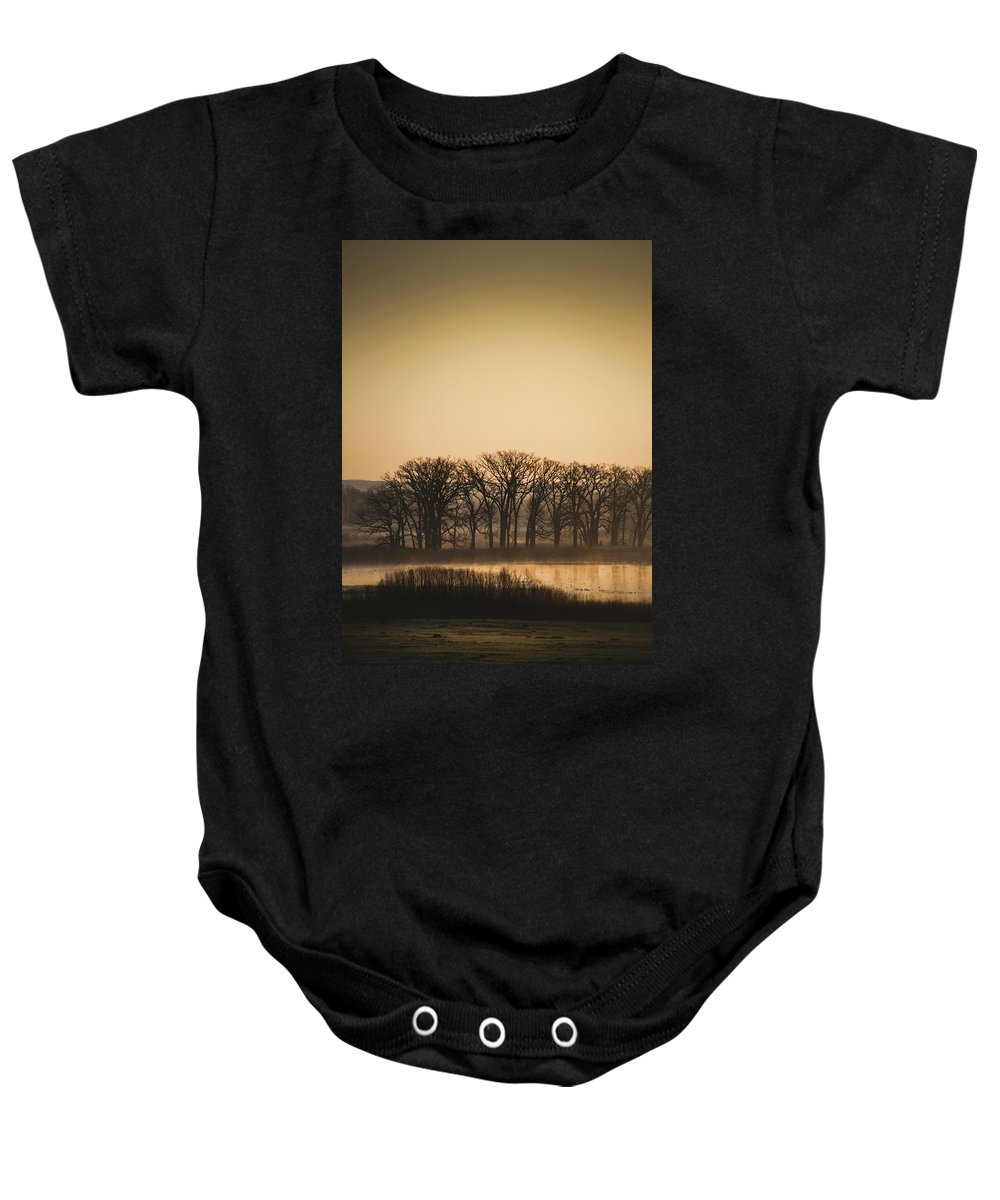 Marsh Baby Onesie featuring the photograph On The Marsh by David Jilek