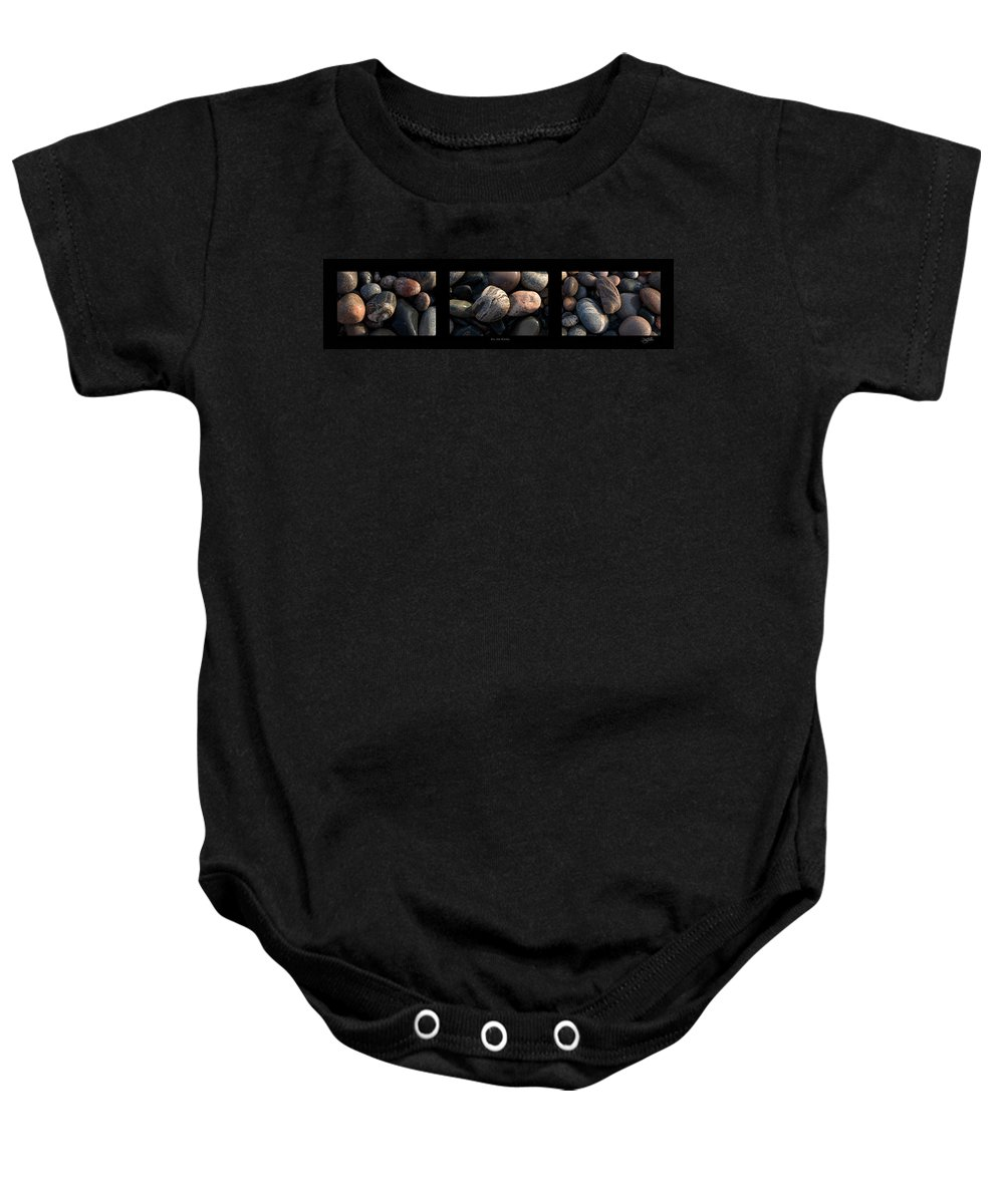 Lake Superior Baby Onesie featuring the photograph On The Rocks by Doug Gibbons