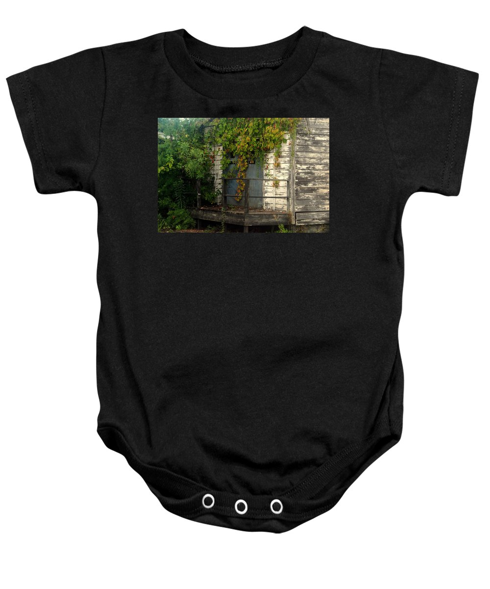 Once Upon A Time Baby Onesie featuring the photograph Once Upon A Time by Susanne Van Hulst