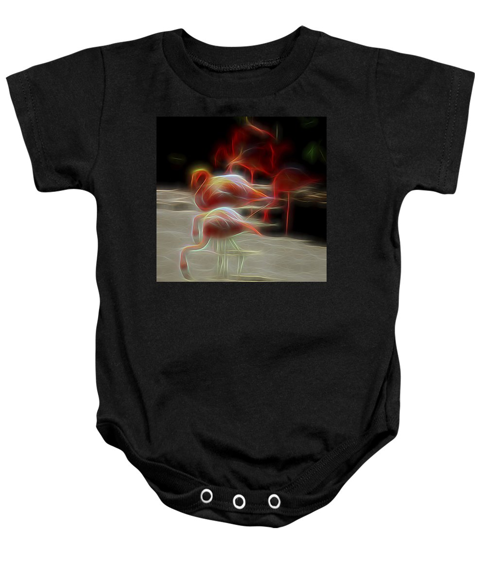 Nature Baby Onesie featuring the digital art One Long Moment by William Horden