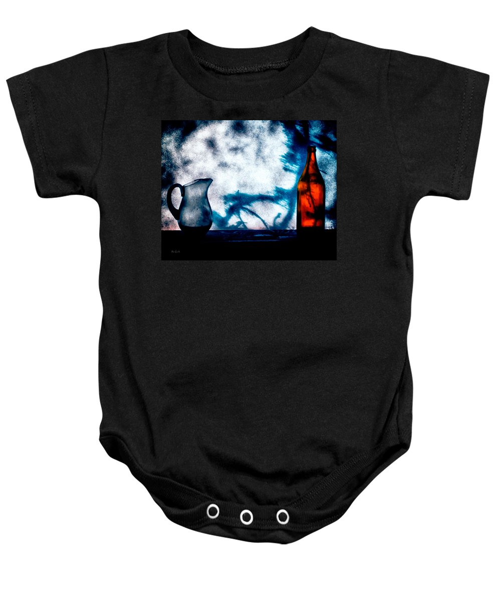 Still-life Baby Onesie featuring the photograph One Red Bottle by Bob Orsillo