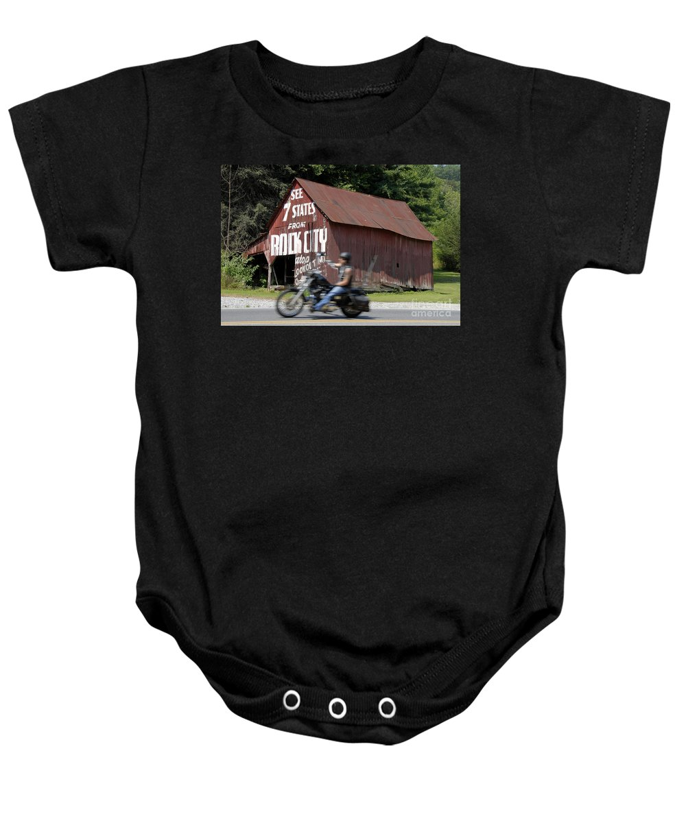 Motorcycle Baby Onesie featuring the photograph Open Road by David Lee Thompson