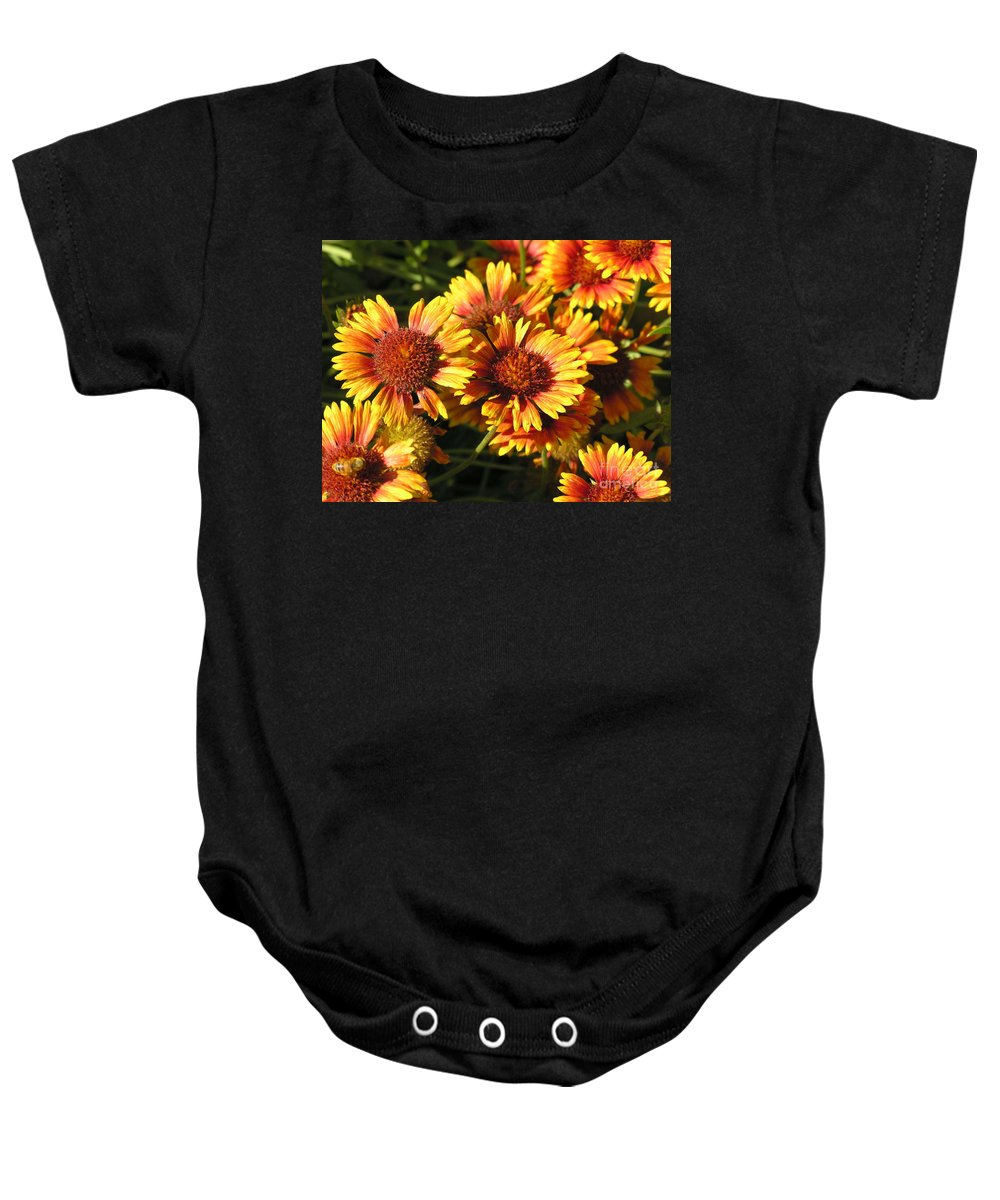 Orange Baby Onesie featuring the photograph Orange And Gold by Diane Greco-Lesser