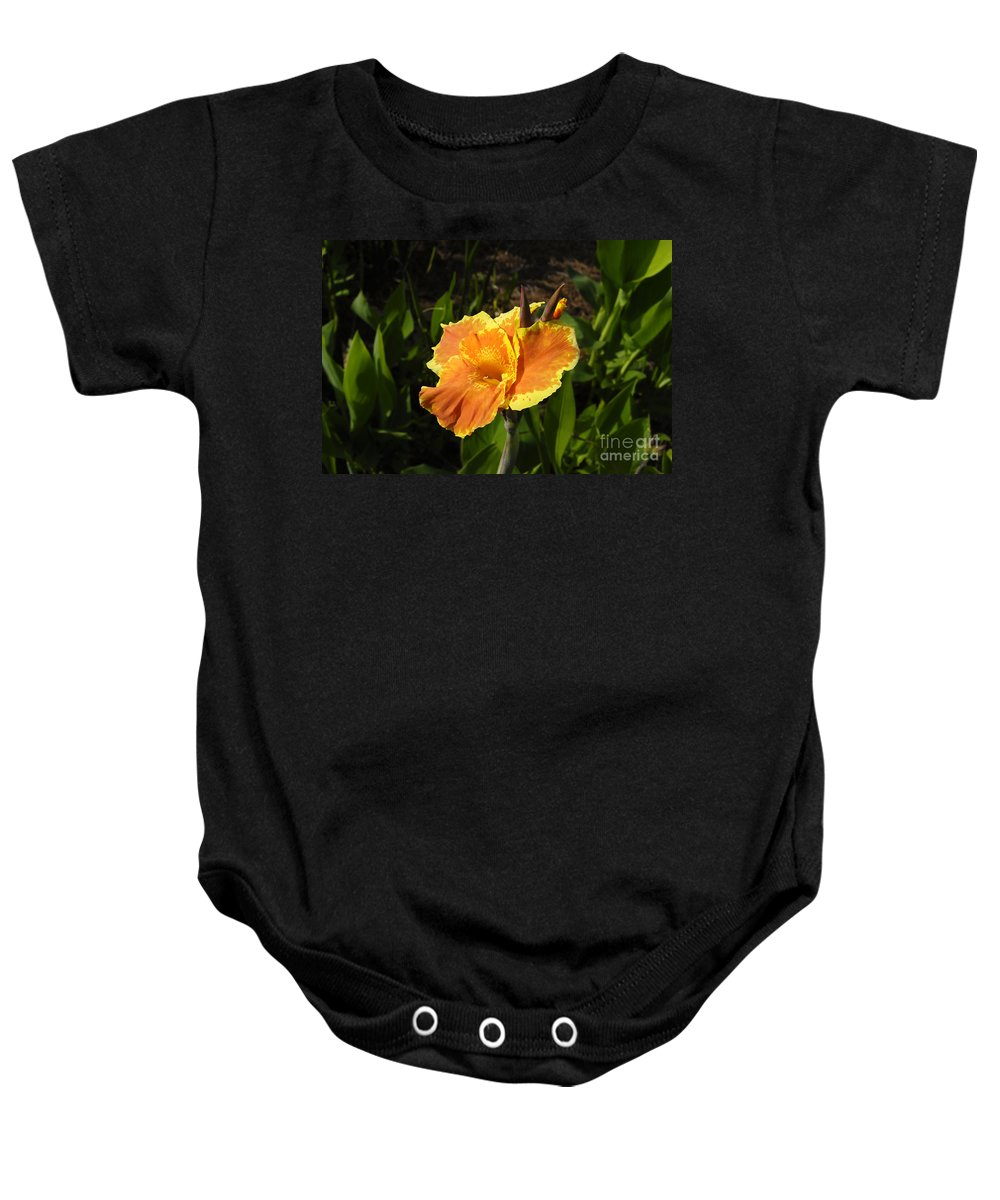 Flower Baby Onesie featuring the photograph Orange Flower by David Lee Thompson