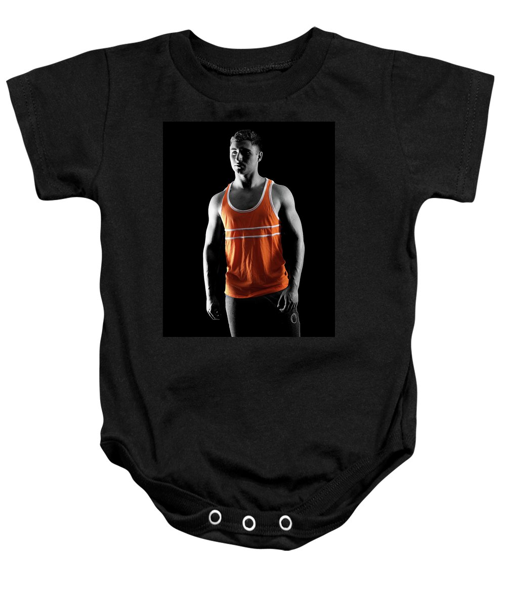 Manchild Baby Onesie featuring the photograph Orange by Mike U