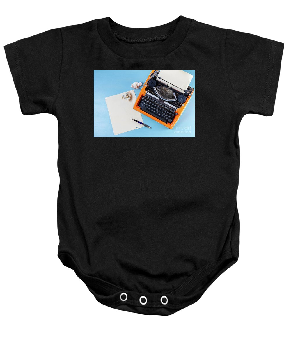 Typewriter Baby Onesie featuring the photograph Letters To Remember by Anastasy Yarmolovich