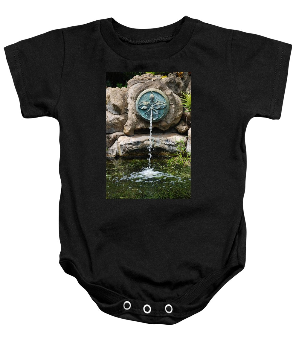Orchid Baby Onesie featuring the photograph Orchid Fountian by Rob Hans