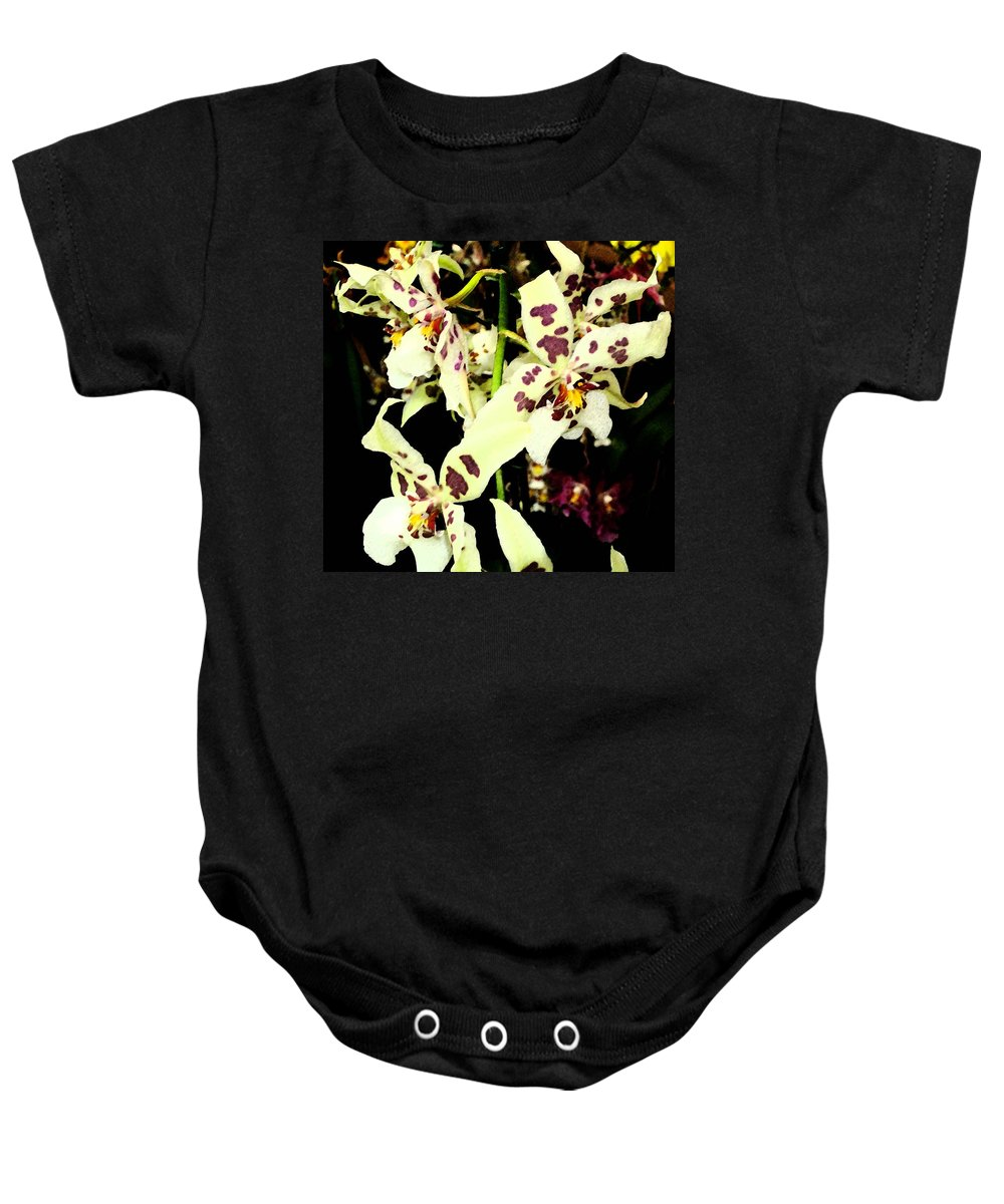 Orchid Baby Onesie featuring the photograph Orchid Fresco by Mindy Newman