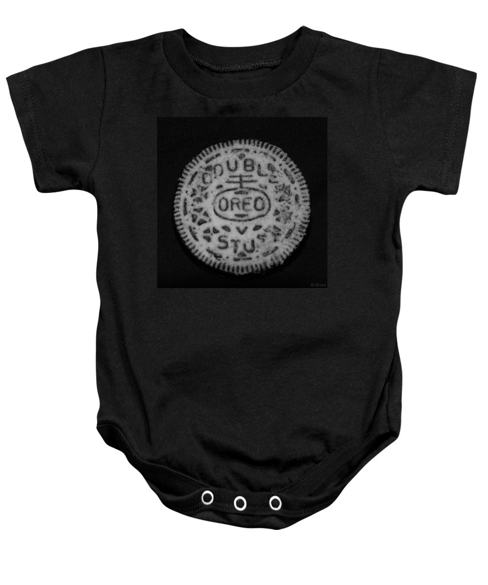 Oreo Baby Onesie featuring the photograph Oreo In Matte Finish by Rob Hans