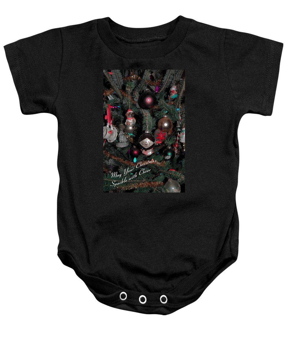 Christmas Baby Onesie featuring the digital art Ornamental by DigiArt Diaries by Vicky B Fuller