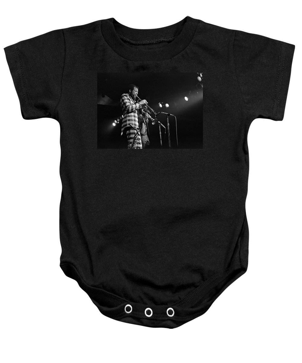 Ornette Colman Baby Onesie featuring the photograph Ornette Coleman On Trumpet by Lee Santa