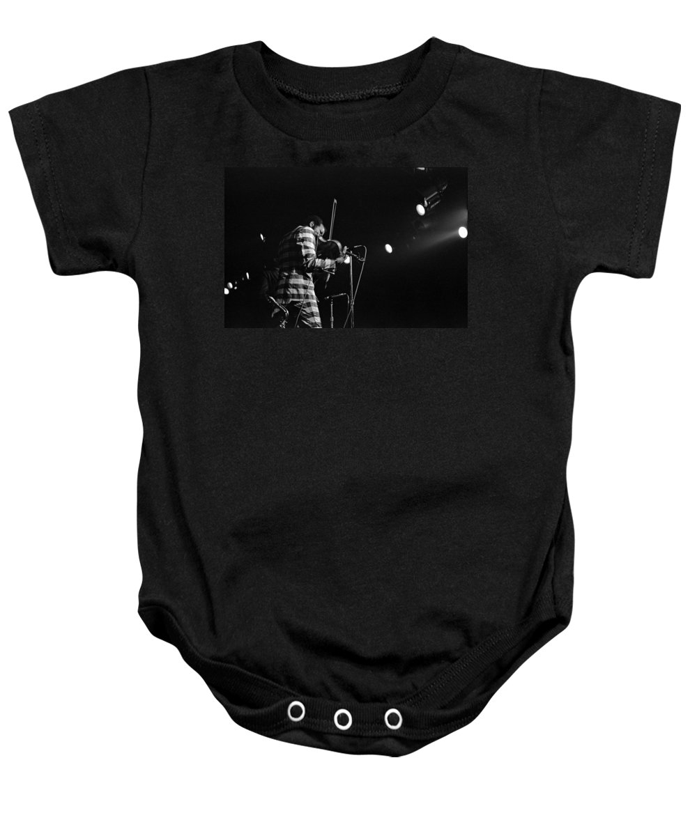 Ornette Coleman Baby Onesie featuring the photograph Ornette Coleman On Violin by Lee Santa