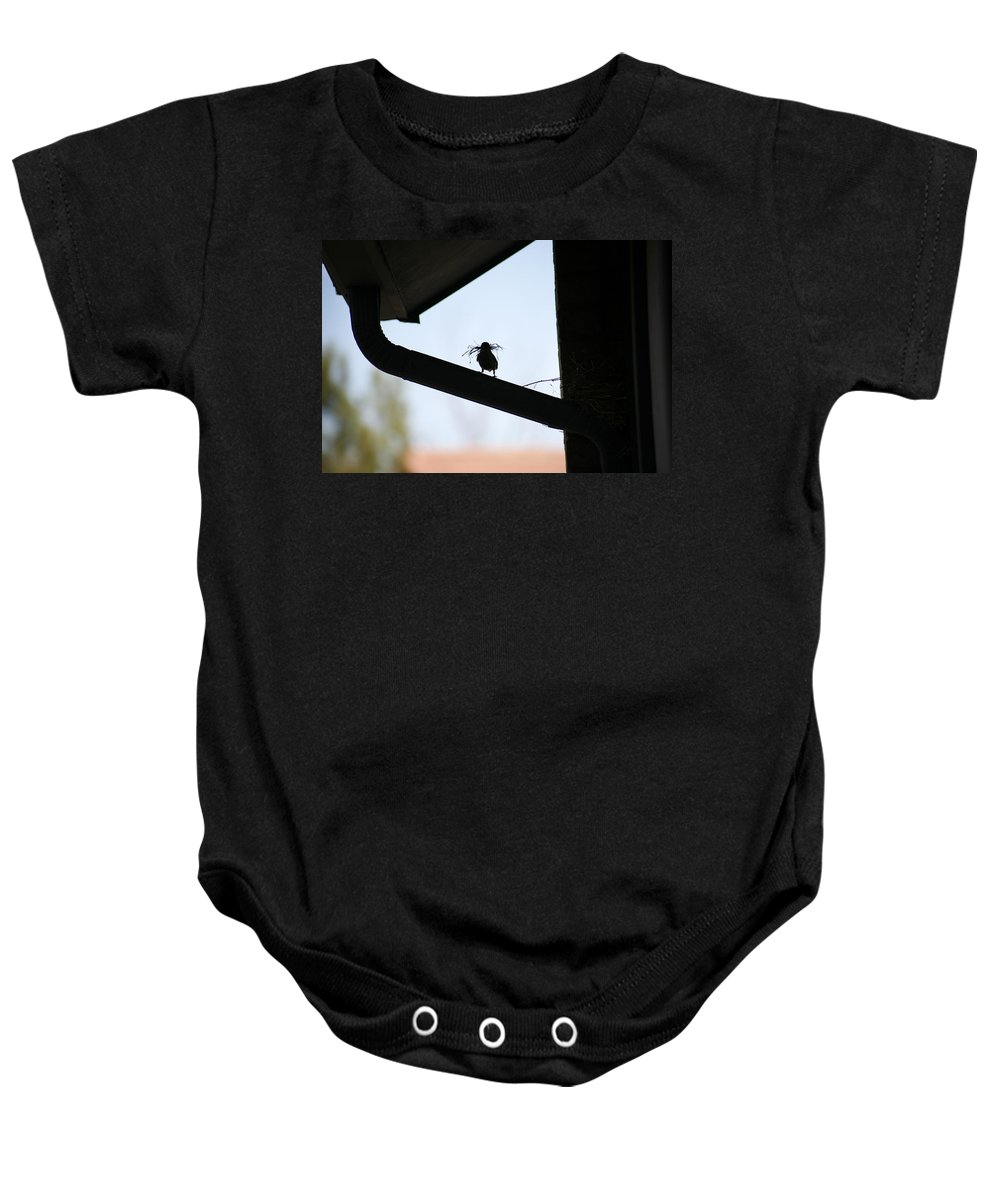 Nest Baby Onesie featuring the photograph Our House by Marilyn Hunt