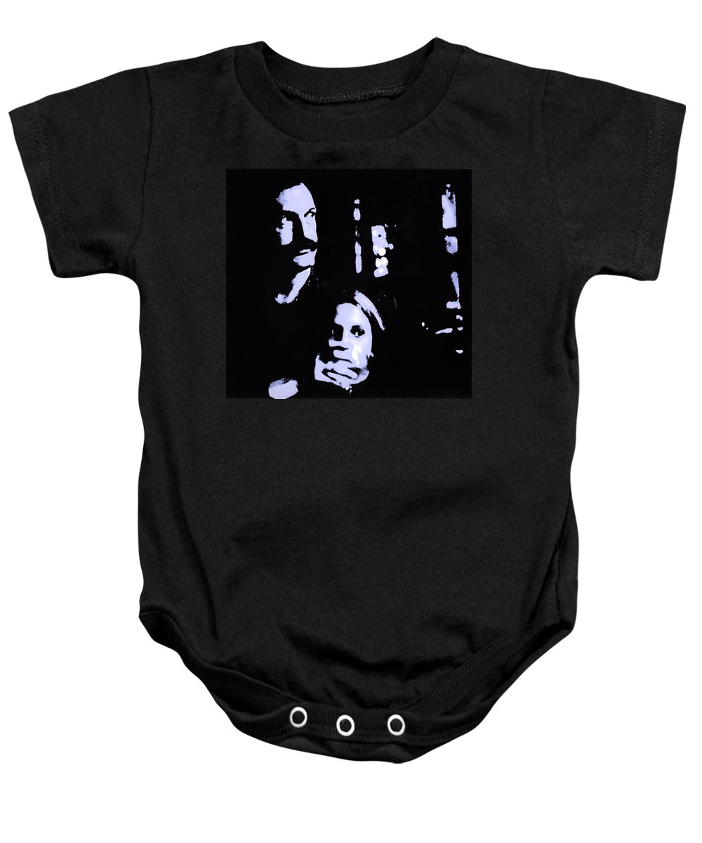 Scary Baby Onesie featuring the photograph Out Of The Dark by Madeline Ellis