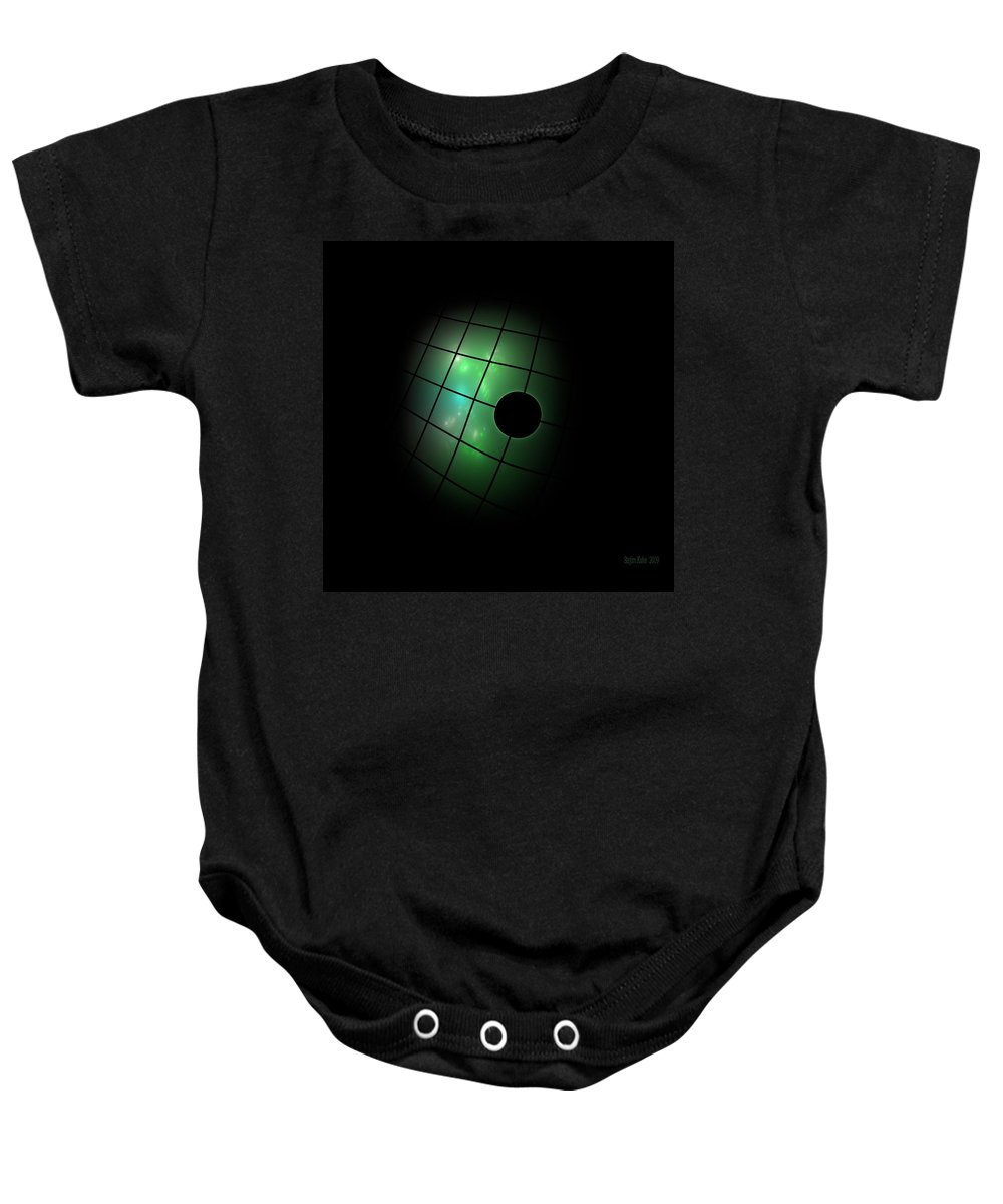 Dark Baby Onesie featuring the digital art Out Of The Dark by Steve K