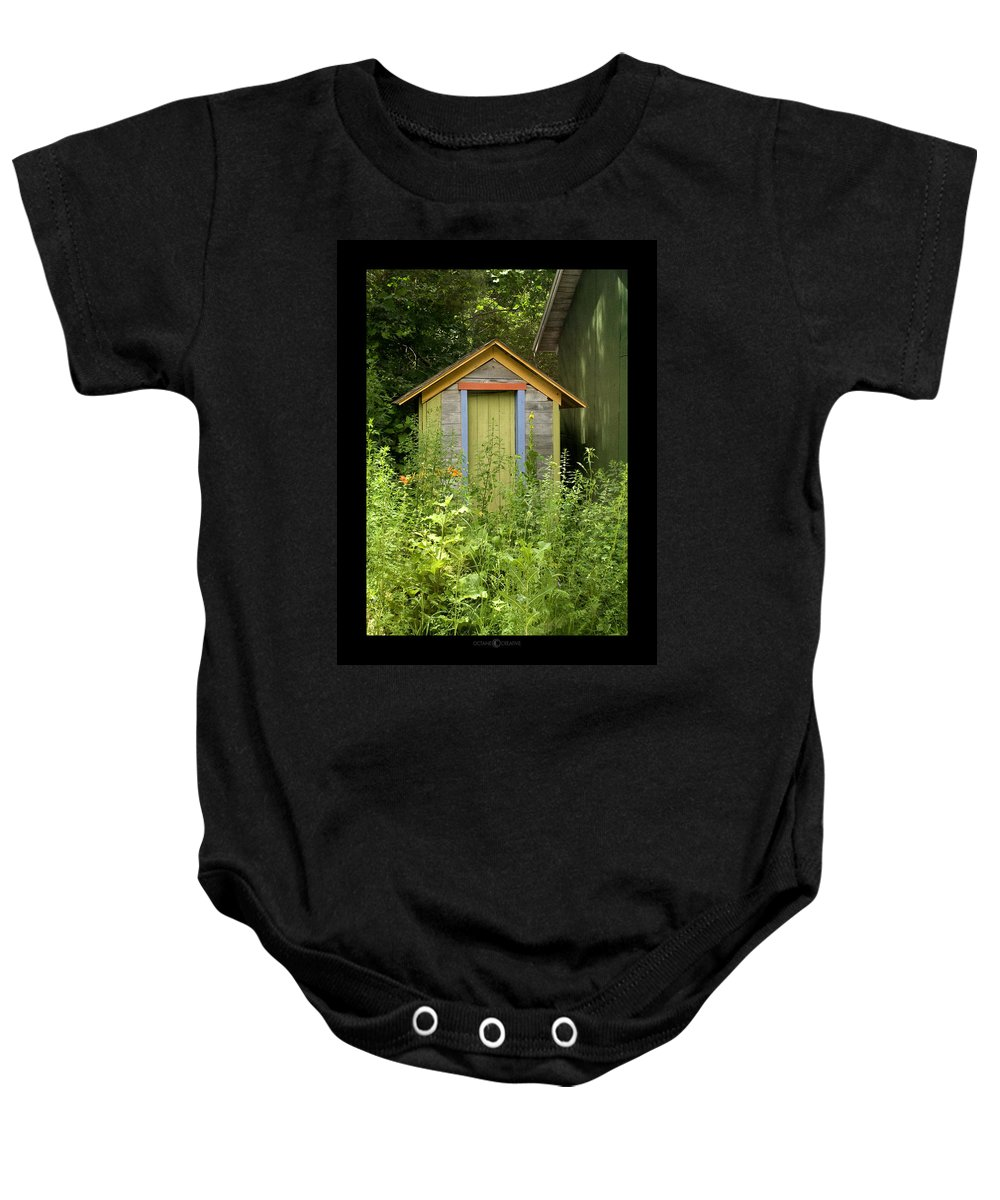 Outhouse Baby Onesie featuring the photograph Outhouse by Tim Nyberg