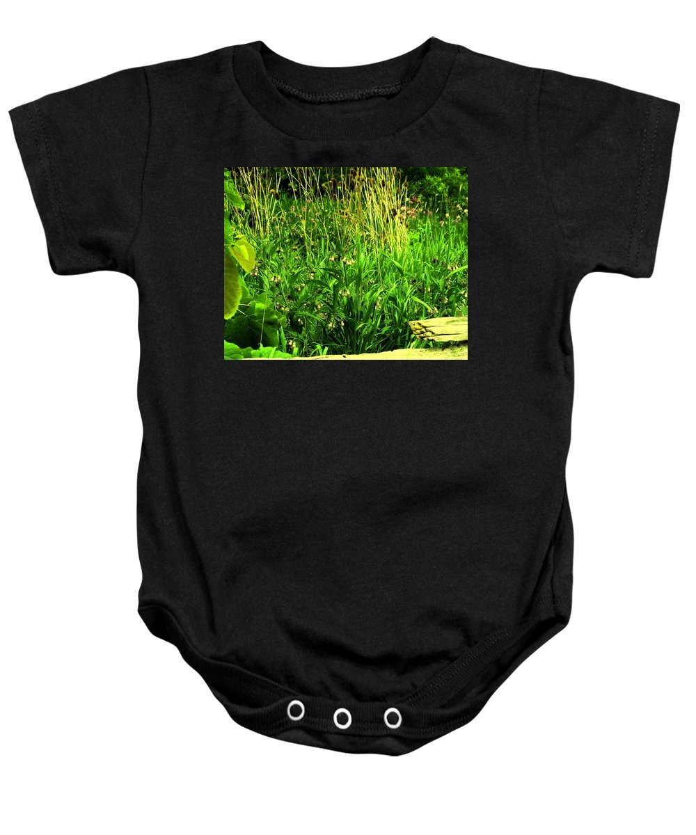 Fence Baby Onesie featuring the photograph Over The Fence by Ian MacDonald