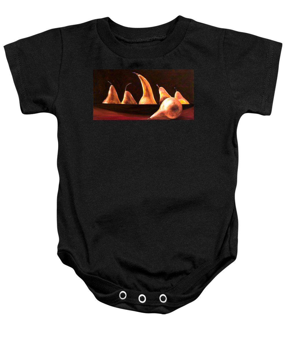 Still Life Baby Onesie featuring the painting Overboard by Shannon Grissom