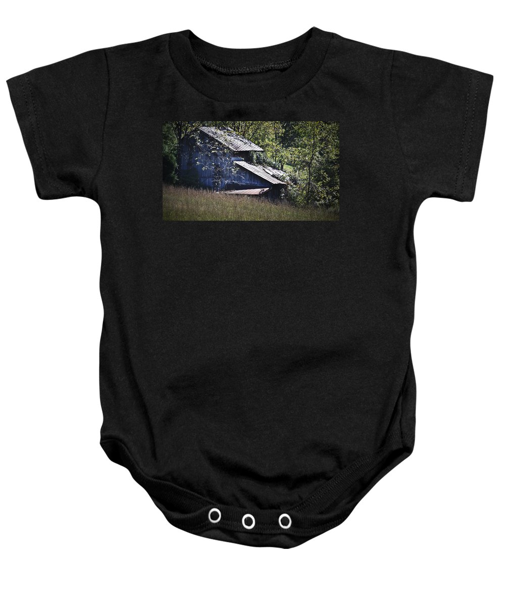 Virginia Baby Onesie featuring the photograph Overgrown by Teresa Mucha