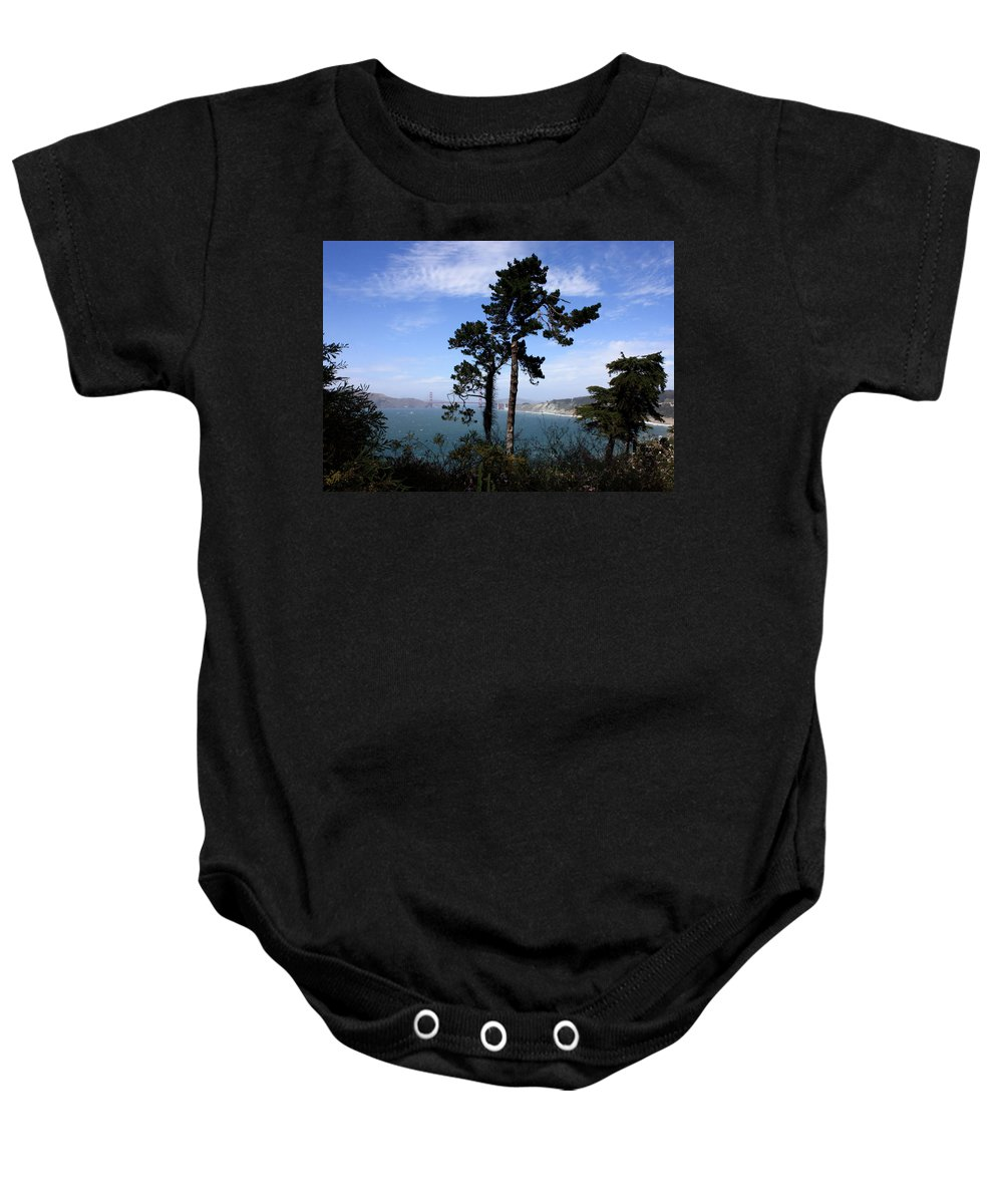 San Francisco Bay Baby Onesie featuring the photograph Overlooking The Bay by Carol Groenen