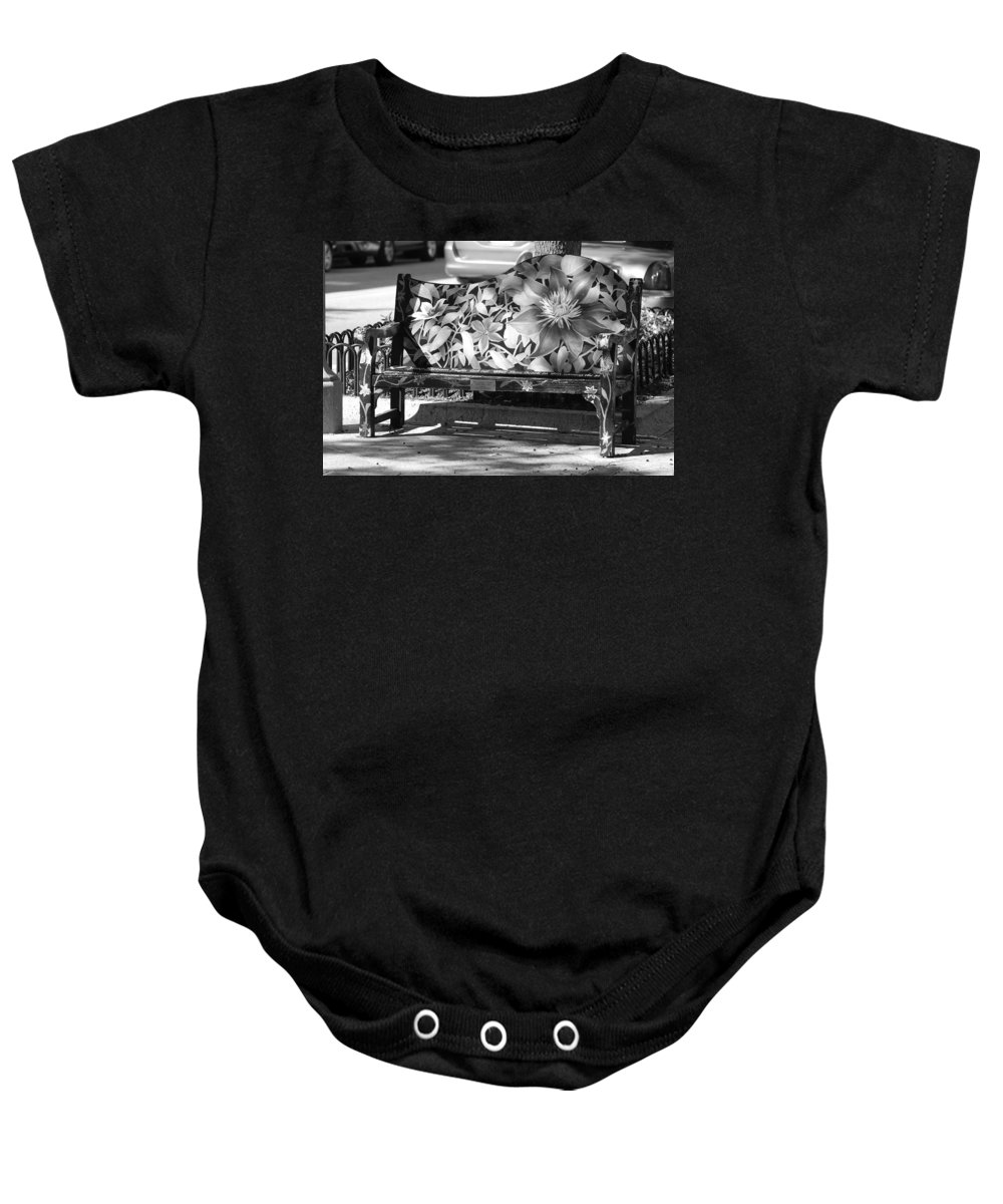 Pop Art Baby Onesie featuring the photograph Painted Bench by Rob Hans