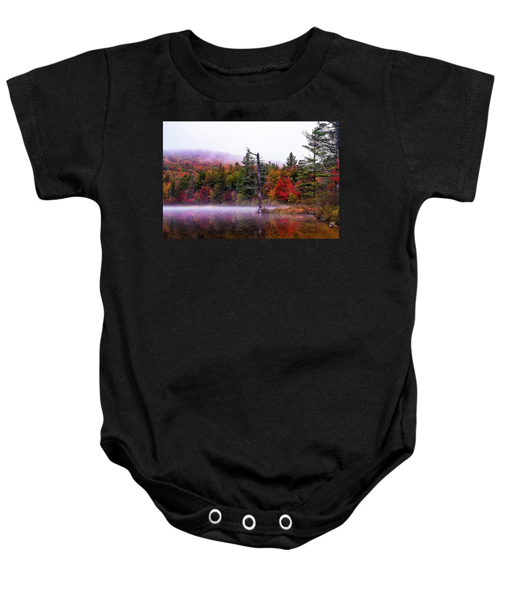 Moss Baby Onesie featuring the photograph Painted Trees by Tony Beaver
