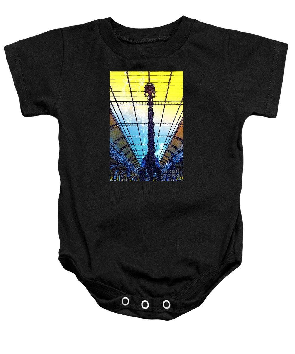 Diplodocus Baby Onesie featuring the photograph Paleo Diplo by Helge