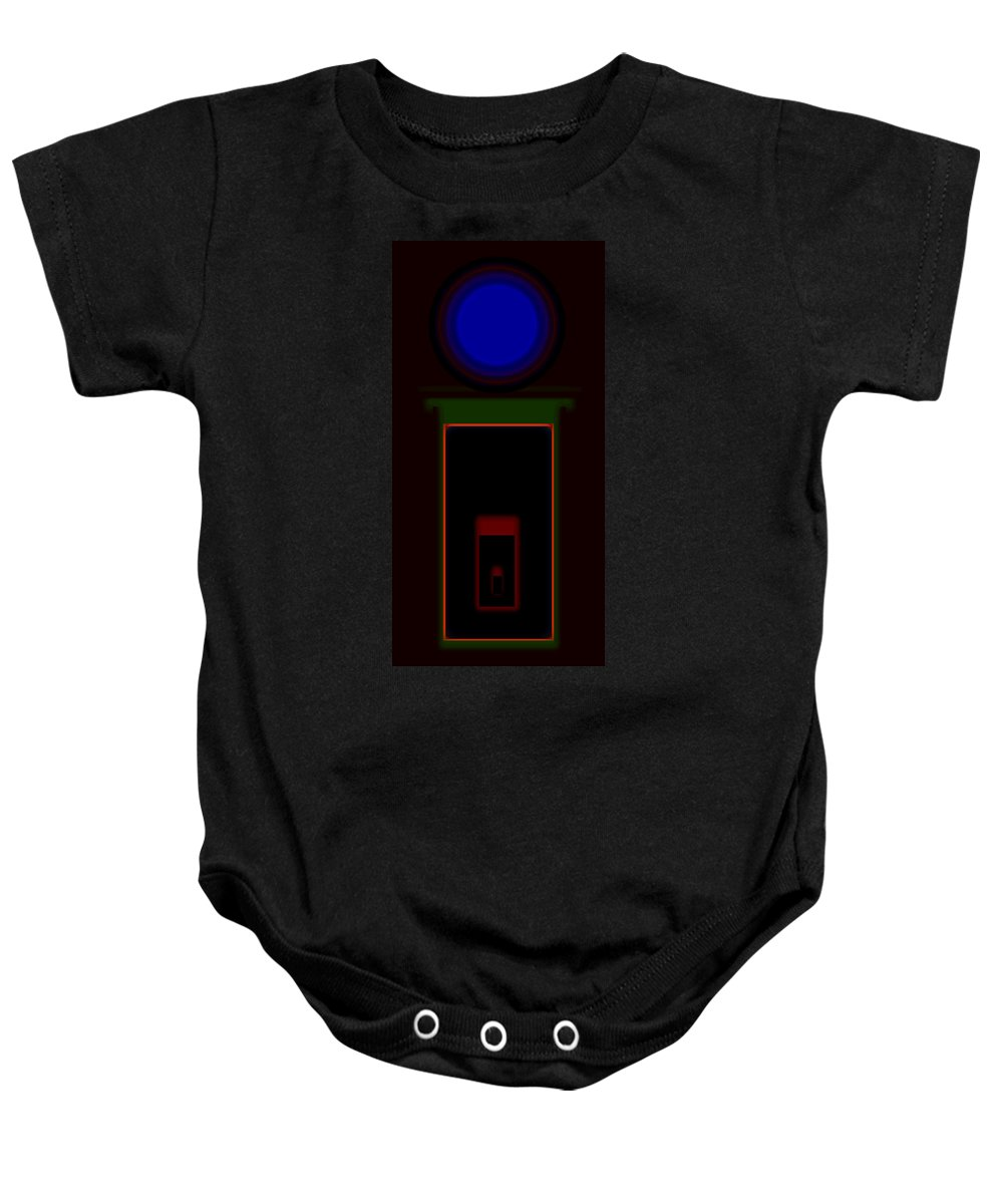 Palladian Baby Onesie featuring the painting Palladian Night by Charles Stuart
