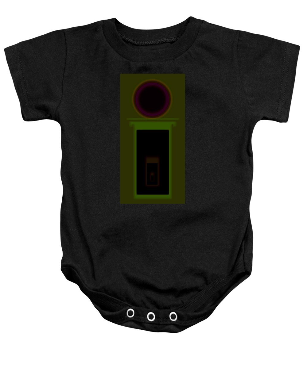 Palladian Baby Onesie featuring the painting Palladian Olive by Charles Stuart