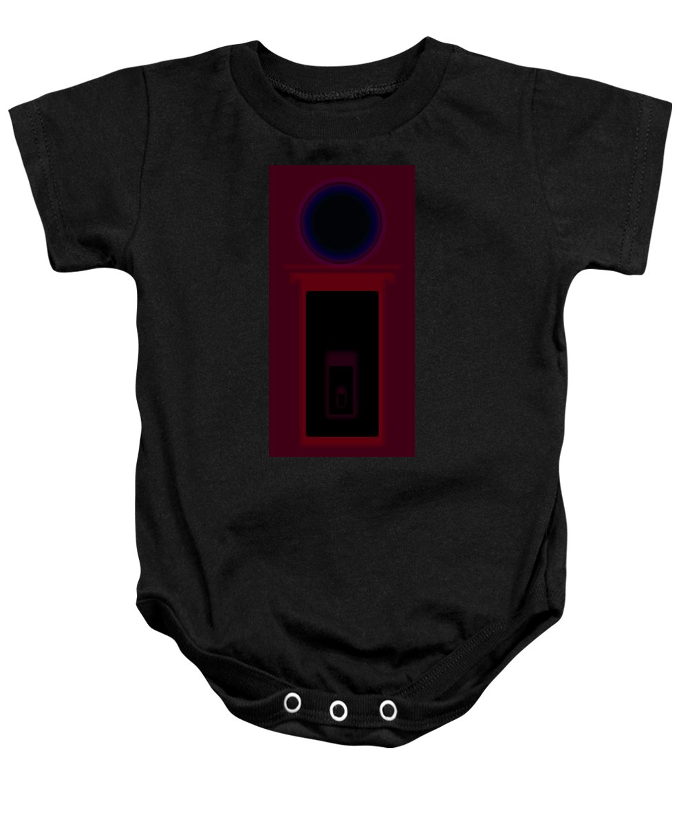 Palladian Baby Onesie featuring the painting Palladian Red by Charles Stuart