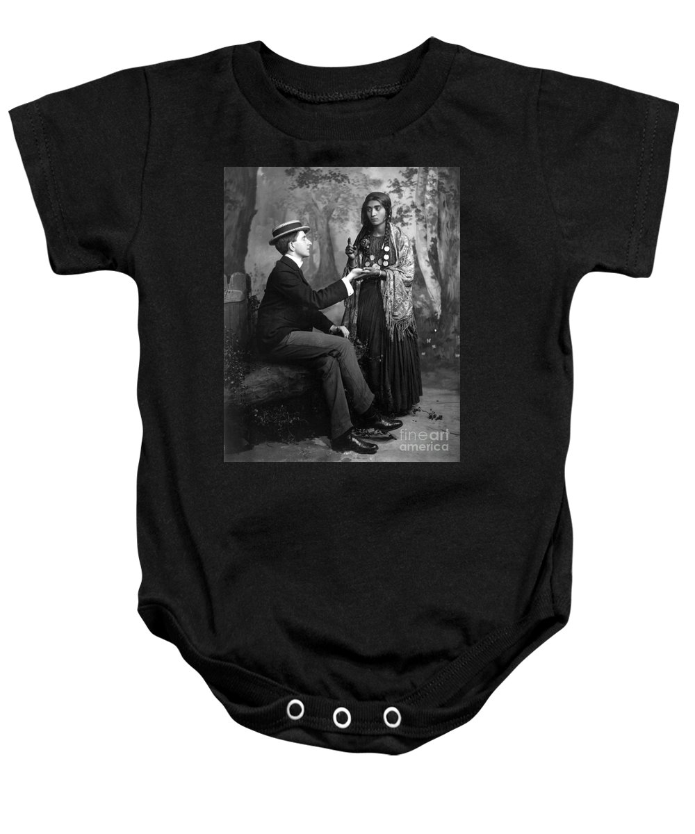 1910 Baby Onesie featuring the photograph Palm-reading, C1910 by Granger