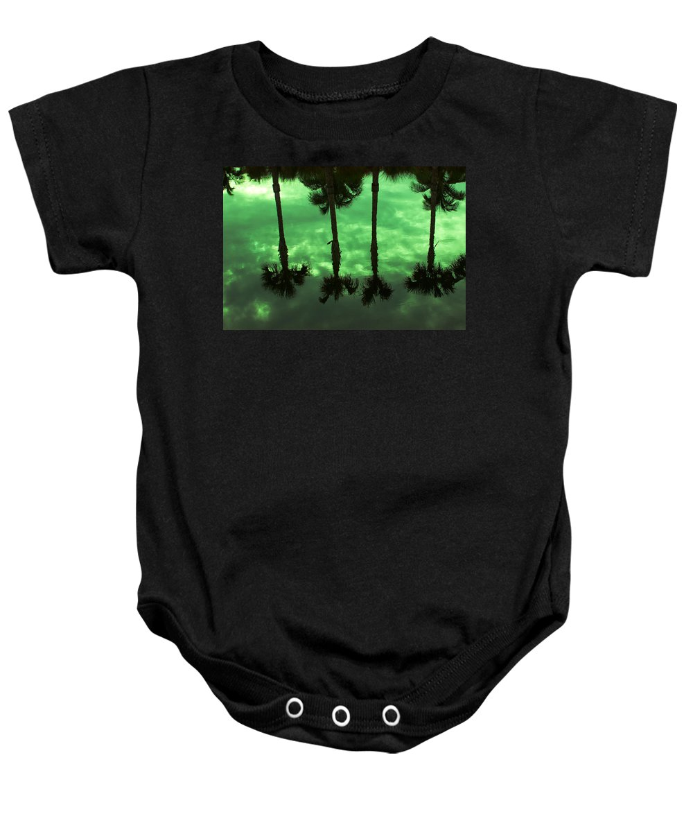 Palms Baby Onesie featuring the photograph Palms Of Florida by Mayra Pau