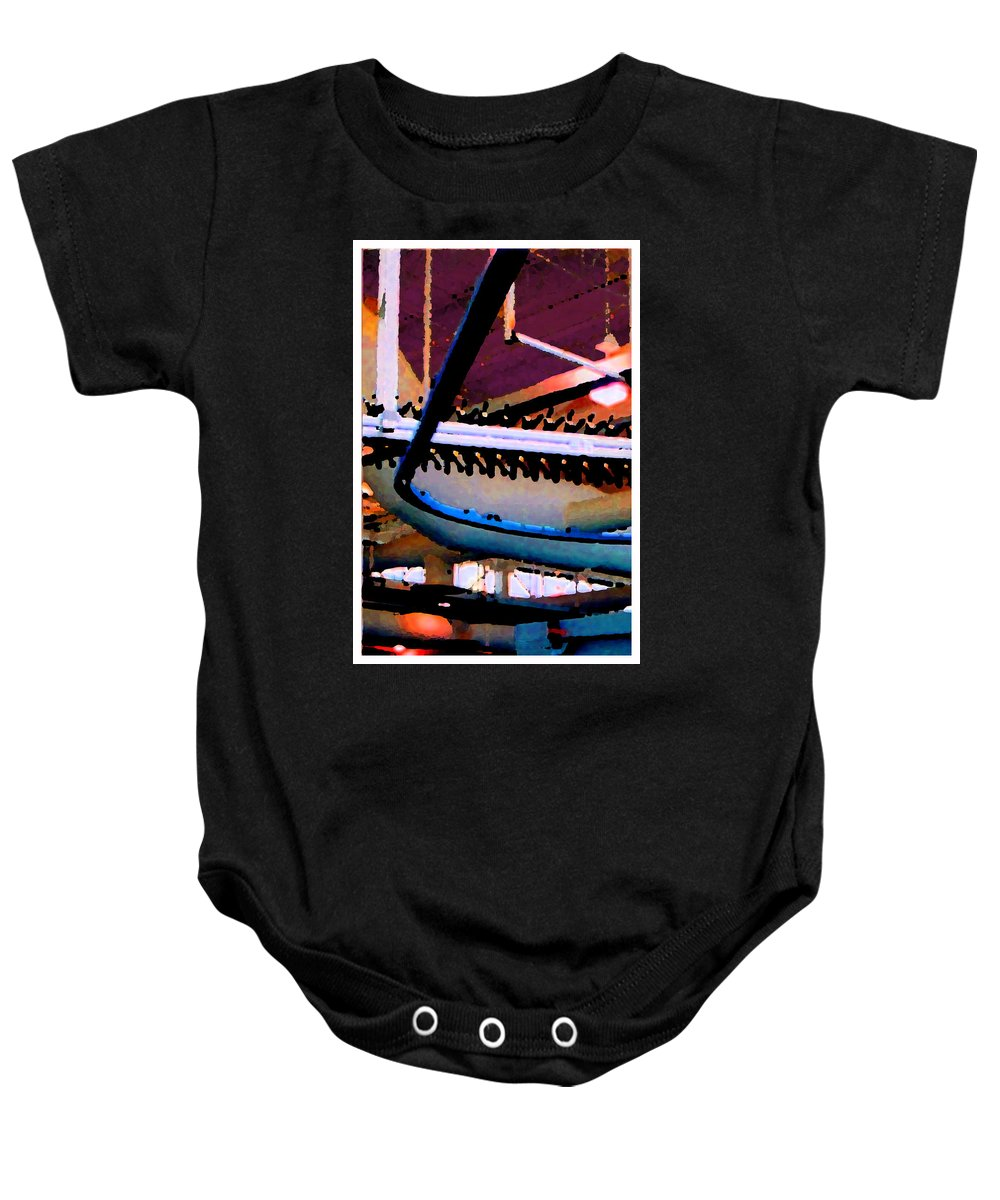 Abstract Baby Onesie featuring the photograph Panel Three From Star Factory by Steve Karol