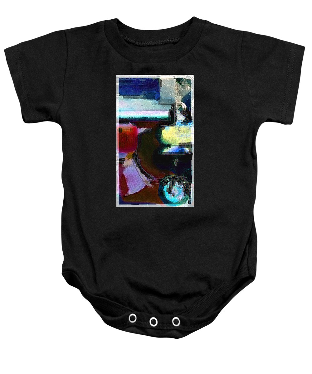 Abstract Baby Onesie featuring the photograph panel two from Centrifuge by Steve Karol