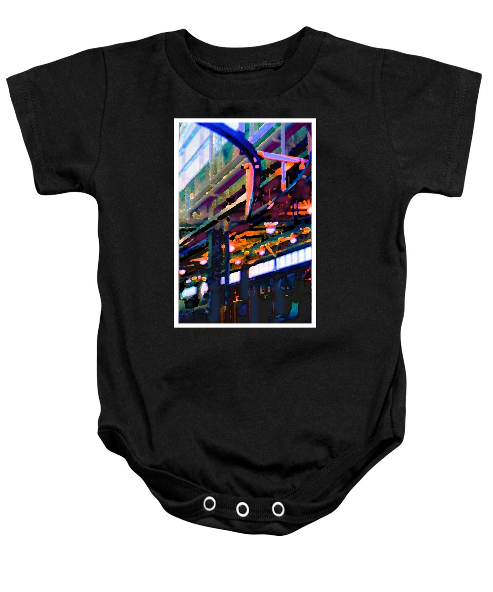 Abstract Baby Onesie featuring the photograph panel two from Star Factory by Steve Karol