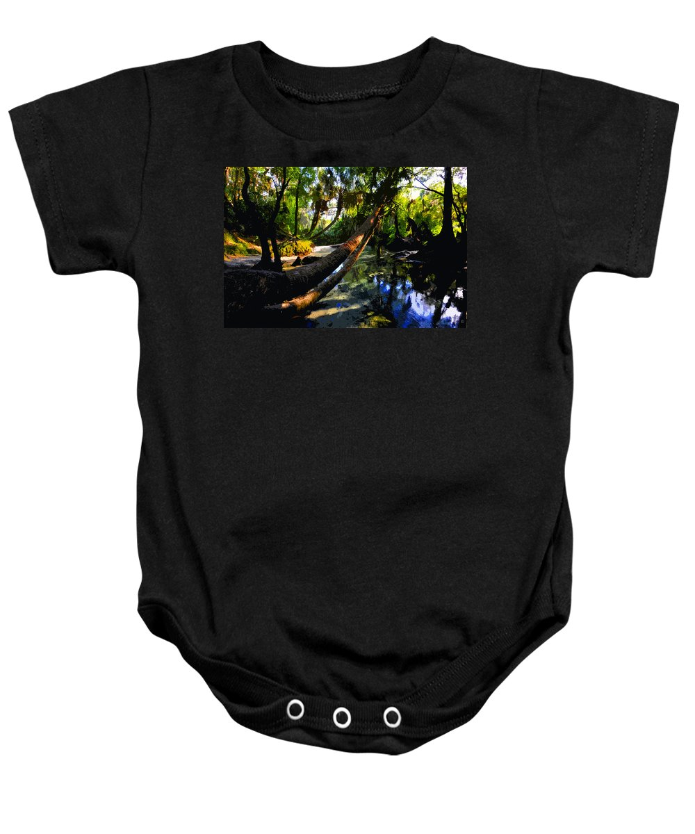 Paradise Baby Onesie featuring the painting Paradise Found by David Lee Thompson